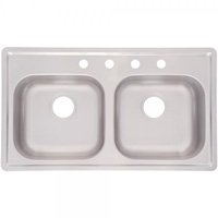 Double Mobile Home Kitchen Sink - Stainless Steel