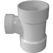"3""x3""x2"" PVC-DWV Reducing Sanitary Tee (HxHxH)"