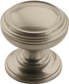 Amerock BP55342G10 Cabinet Knob, 1-1/4 in Projection, Zinc, Satin Nickel