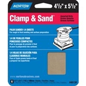 NORTON 48130 Multi-Stand Sheet, 100, 150, 220-Grit, Fine/Medium/Very Fine, Aluminum Oxide, 5-1/2 in L