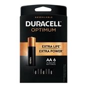 Duracell 032566 Optimum AA Batteries, 6 Pack
