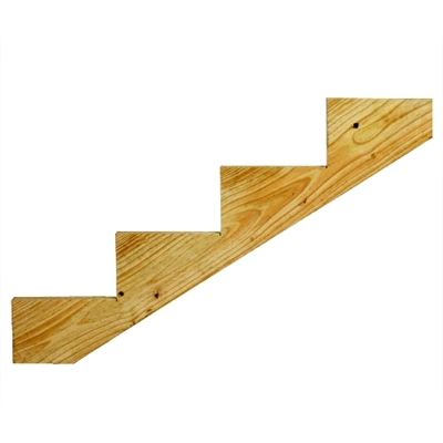 4 Step Ground Contact Treated Stair Stringer