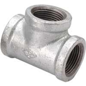 "3/4""x1/2"" Galvanized Reducer Tee"