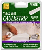 "TUB/FLOOR CAULKSTRIP 1 1/4""X5'"