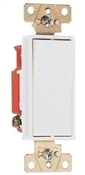 Legrand White 20 amp decorator style single pole switch 120/277 volts