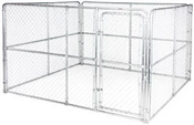 10' x 10' x 6' Chain Link Kennel