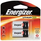 Energizer Cylindrical Lithium Battery, 3 V, 123A, Manganese Dioxide
