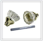 Glass Knob & Spindle Set 2 Pack