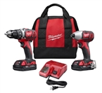 M18 Drill Kit, Compact + Hex Impact Driver, Two 18-Volt Lithium-Ion Batteries