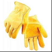 Fencing Work Gloves, Gold Cowhide, Men's M