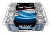 Rayovac 813-12PPK D Batteries, Recloseable Container, 12 Pack