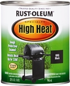 High Heat Black BBQ Paint - 1 Quart