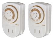 Indoor 24 Hour Mechanical Timer 2 Pack