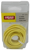 12' Yellow 12AWG Primary Wire