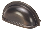 "3-1/2"" Cup Design Cabinet Pull - Classic Bronze"