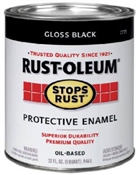 Stops Rust Protective Enamel Gloss Black