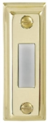 Lighted White And Gold Metal Doorbell Button