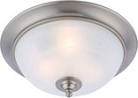 Dover 3 Light Flush Mount Ceiling Fixture, Satin Nickel