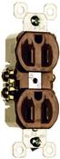 Brown 15 Amp 125 Volt Receptacle