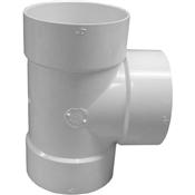 """4"""" PVC S&D Bull Nose Tee (HubxHubxHub)"""