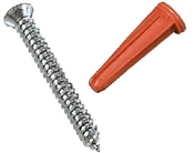 Zinc Screws And Anchors 6 Pack