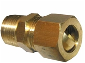 "1/2"" Compressoin x 1/4"" Male Pipe Thread Adapter"