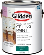 Interior Flat Pink-To-White Ceiling Paint, 1 Gallon
