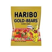 Haribo HGB12 Gummy Bear Shape Jelly Candy, 5 oz Bag