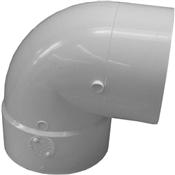 "6"" PVC S&D 90° Short Turn Street Elbow (HubxSp)"