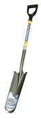 Drain Spade Shovel, 16 in L x 6 in W Blade, Fiberglass Handle