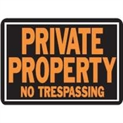 Private Property No Trespassing Aluminum Sign