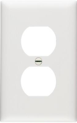 White Nylon 1 Gang Receptacle Plate 10 Pack