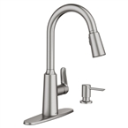 Edwyn Single Handle High Arc Pull Down Kitchen Faucet, Stainless