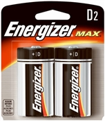 D Alkaline Batteries 2 Pack