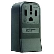 Black 50 Amp 125/250 Volt Surface Mount 4 Wire Range Outlet