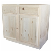 "36"" Unfinished Pine Base Cabinet"