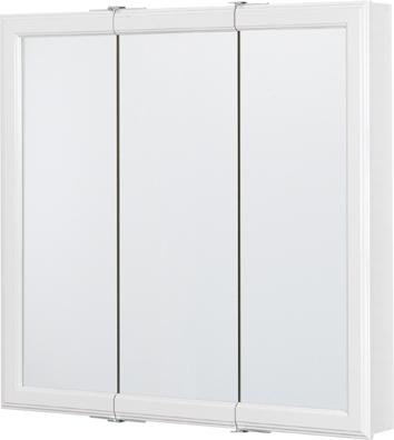 30 Tri View Medicine Cabinet In White Finish