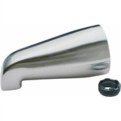 "Bath Tub Spout Chrome Plated For 3/4"" IPS or 1/2"" IPS"