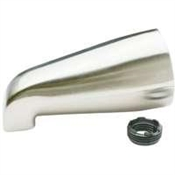 "Bath Tub Spout Brushed Nickel For 3/4"" IPS or 1/2"" IPS"