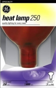 250 Watt Red Infrared Heat Reflector Bulb