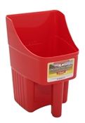 Red Enclosed Feed Scoop, 3 Quart