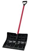 "Snow Shovel, Poly Blade, Steel Handle 18"""
