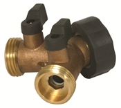 Y Water Connector Valve - Solid Brass