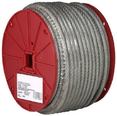 "1/8""-3/16"" Coated Galvanized Cable 250' Roll"
