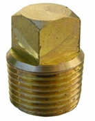 "3/4"" Male Pipe Thread with Brass Square Head Plug"