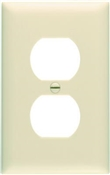 Ivory Nylon 1 Gang Duplex Receptacle Plate
