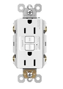 AFCI Receptacle, White, 15-Amp