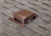 Slant Back Galvanized Roof Vent, Black
