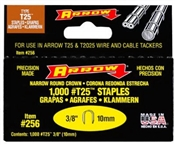 "3/8"" T25 Wire and Cable Staples, 1,000 Pack"