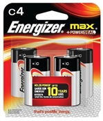 C Alkaline Batteries 4 Pack